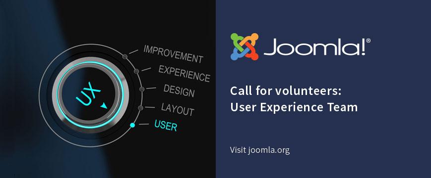 Joomla! UX Team Call For Volunteers