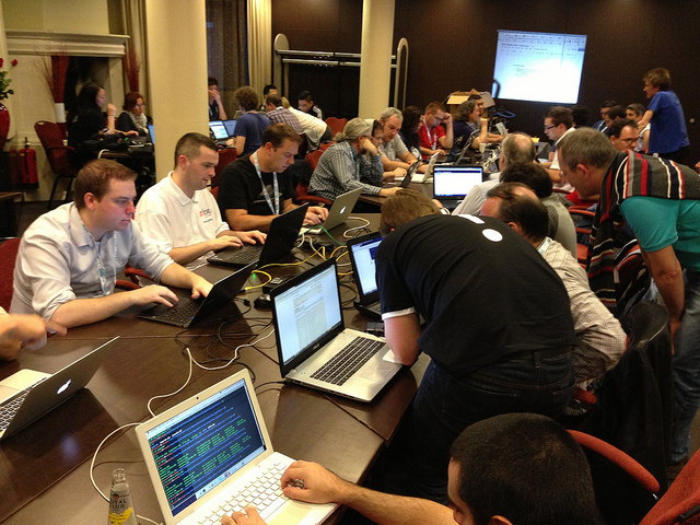 Photo of JAB13 coding, by and courtesy of Philip Locke