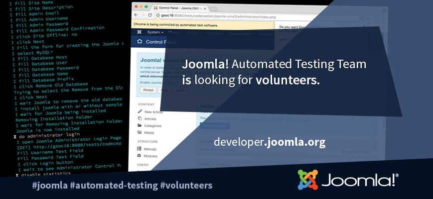 Joomla! Automated Testing Working Group