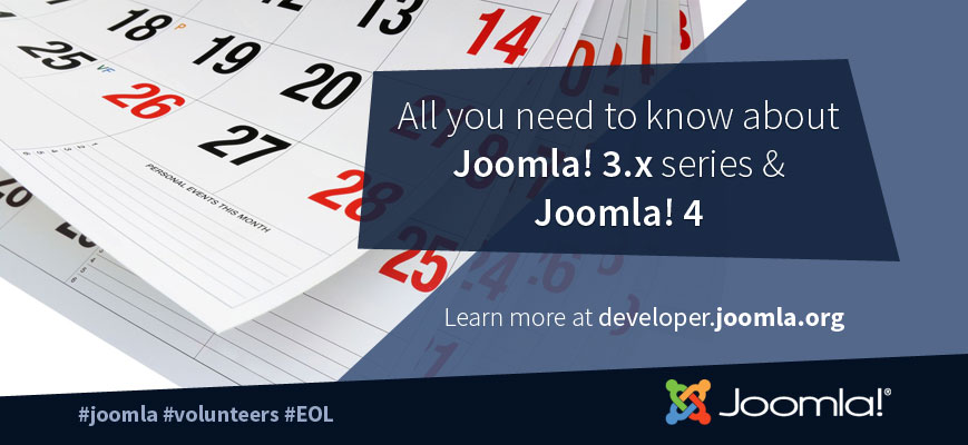 Joomla 3 series end of support