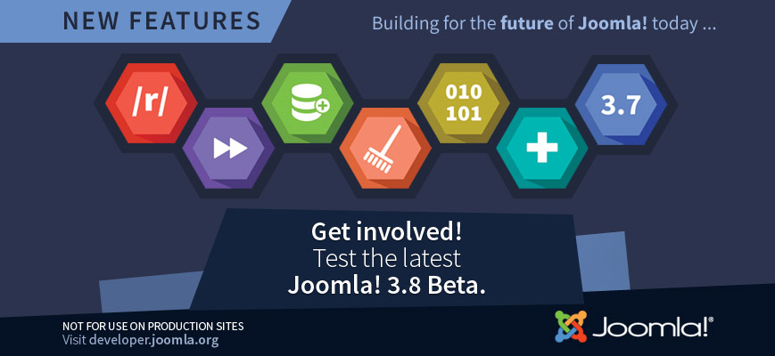 Joomla! 3.8 Beta 2 Released for Testing