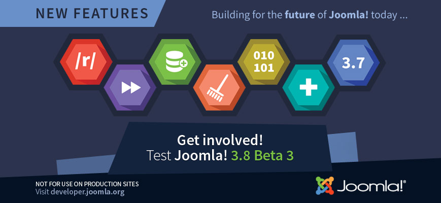 Joomla! 3.8 Beta 3 Released for Testing