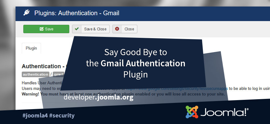 Joomla Gmail Authentication Plugin